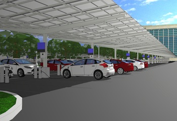 Solar canopy, Ford WHQ