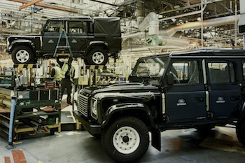 Defender assembly, Solihull