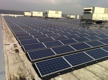 BMW solar array