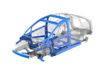 Uso extensivo de grados avanzados de acero en un vehículo típico de segmento C
