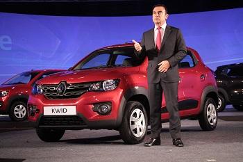 Carlos Ghosn desvela el modelo Renault Kwid en la India