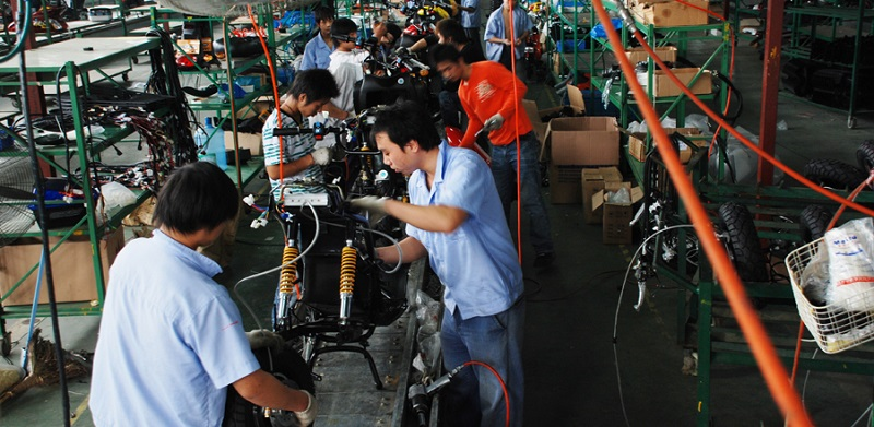 Producción de motocicletas en China