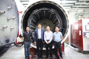 Pic 2 Mr Liang at inauguration of Ningbo vacuum heat treatment furnaces, May 2015