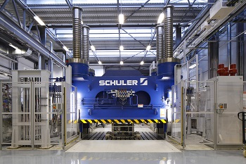 The Schuler press at the NCC can form parts in just 5 minutes