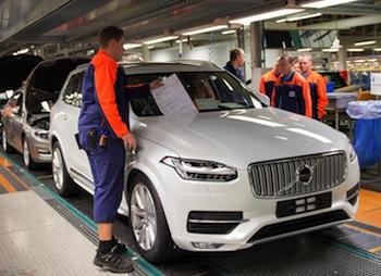 XC90 assembly, Volvo Torslanda