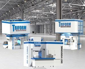 Triform sheet hydroforming