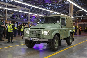 Defender production ends at Solihull