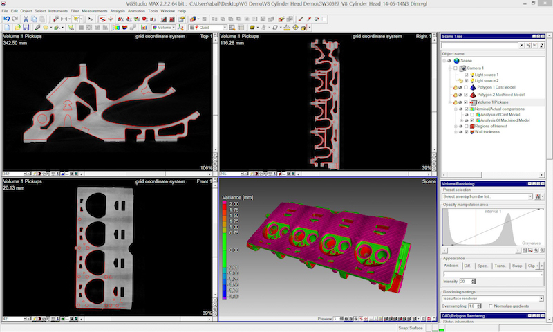 """The software system Volume Graphics transforms the initially """"flat"""" slices generated by the CT system into much richer 3D imagery"""