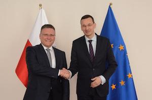 Frank Deiß and Mateusz Morawiecki