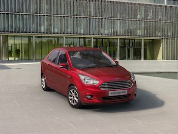 The Figo Aspire made at Ford's Sanand plant