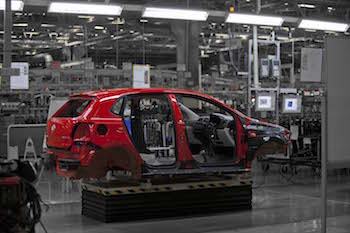 Volkswagen added a third shift at its Pune factory in March 2015 to meet export demand