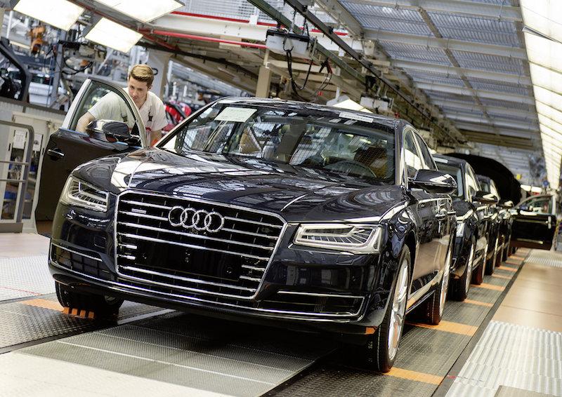 Audi A8, the Neckarsulm assembly line