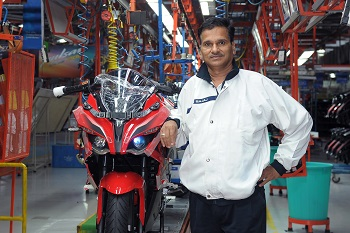 Mr. Sunil Deshpande with Pulsar 200 RS
