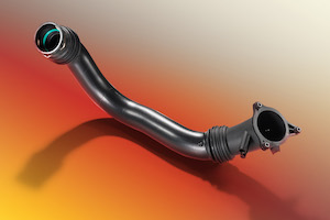 Charge air duct made from BASF high-temperature polyamide Ultramid® Endure BM for blow molding