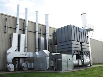 Oxidación térmica regenerativa en la planta de Toyota en Reino Unido