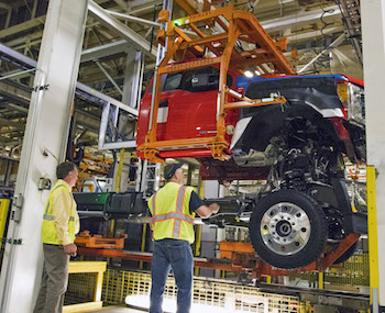 The Ohio Assembly plant received a $200m investment to build Super Duty chassis cabs