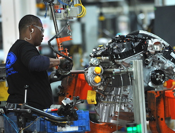Ford supplies its regional operations from engine production sites in North America and Europe