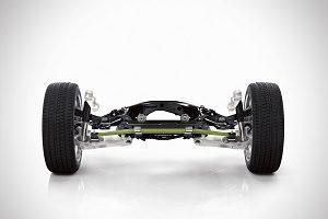 Volvo XC90 composite transverse leaf spring