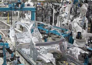 The GLC bodyshop at Valmet Automotive is very compact, designed to maximise efficiency and cost-effectiveness