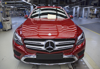 Many of the lessons learned in production of the A-Class have been further developed for the manufacture of the GLC SUV