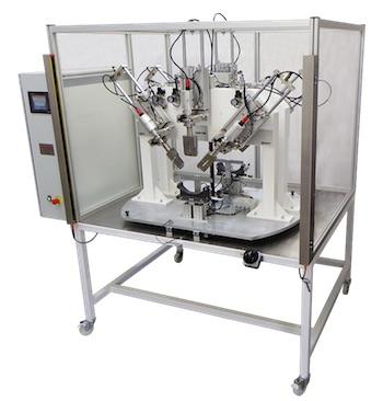 Telsonic binnacle to fabric welding machine