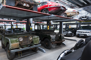 Classic Jaguar and Land Rover models collected from around the world await their turn to be 'reborn'