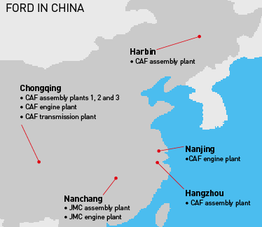 Map, Ford China