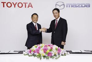 Toyota and Mazda