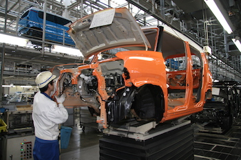 As well as producing mainly kei vehicles, Suzuki's Kosai plant is the centre for its global CKD operations