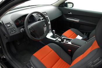 interior of modern european car, stylish colors