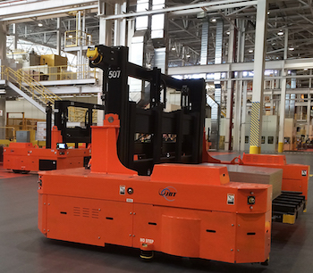 Besides the take up among carmakers, more tier one suppliers are now bringing AGV installations to their plants