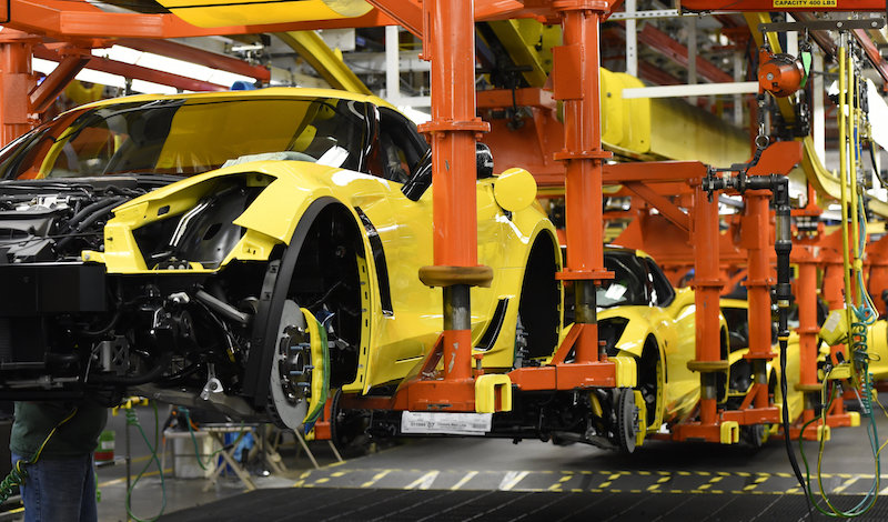 Corvette Build at GM Bowling Green Assembly