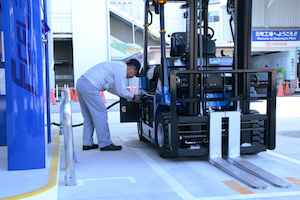 Toyota fuel cell forklift Motomachi