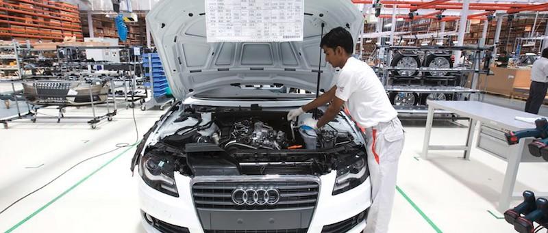 Producción de Audi A4 en Aurangabad, India