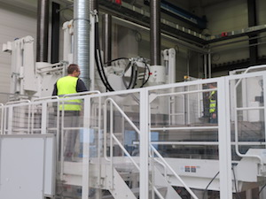 Magna's new Composites Center of Excellence in Esslingen, Germany, features a new Engel 2,300-metric-ton press