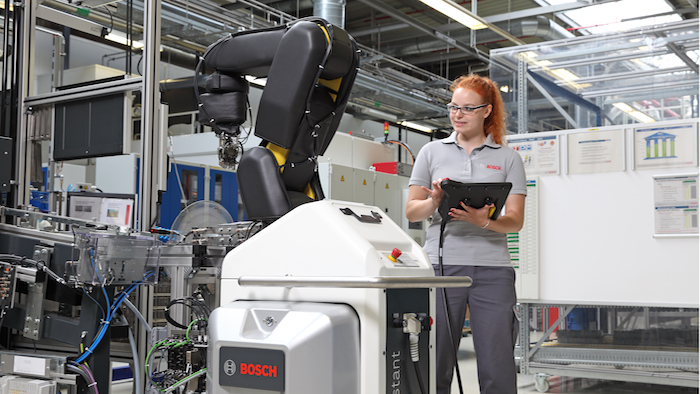 Bosch is currently working with vehicle manufacturers to introduce Industry 4.0 solutions into production lines