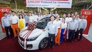 Kia Motors three millionth vehicle produced in Europe