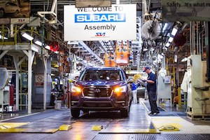 Subaru of Indiana Automotive Ascent assembly line