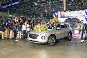 Hyundai Santa Fe production Alabama