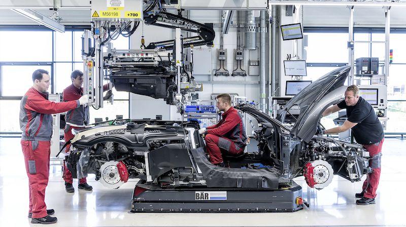 Audi R8 Spyder Produktion