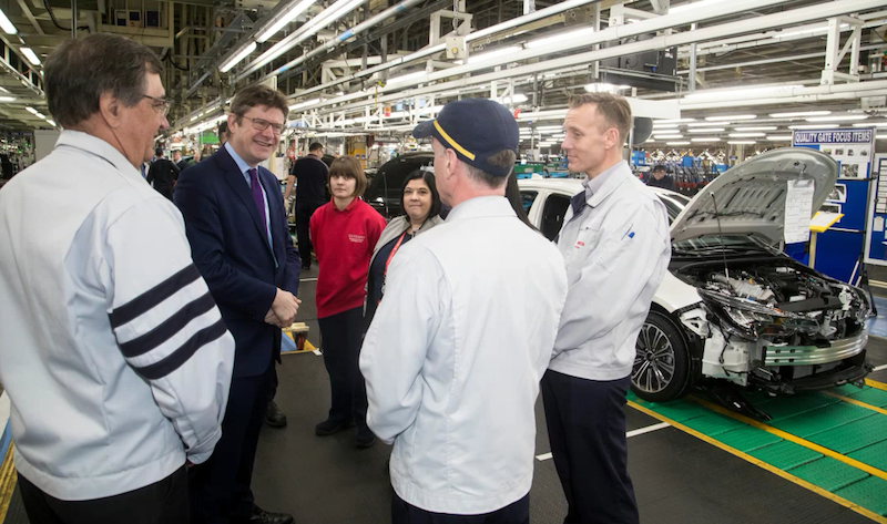 HM Gov Business Sec Greg Hands - Burnaston Toyota