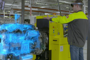 Renault Trucks is hoping to leverage 'mixed reality' technology to help workers assemble engines